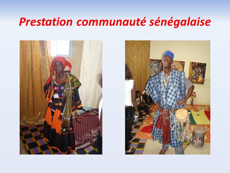 Prestation communauté sénégalaise