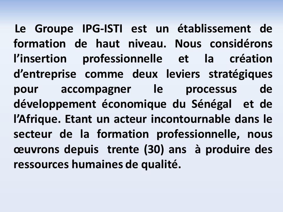 Le Groupe IPG-ISTI est un établissement de formation de haut niveau.
