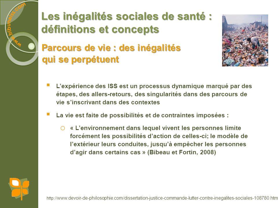 Les inégalités sociales de santé : définitions et concepts Parcours de vie : des inégalités qui se perpétuent http:// www.devoir-de-philosophie.com/di