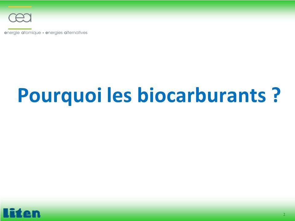 2 Pourquoi les biocarburants ?