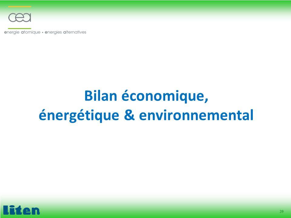 39 Bilan économique, énergétique & environnemental