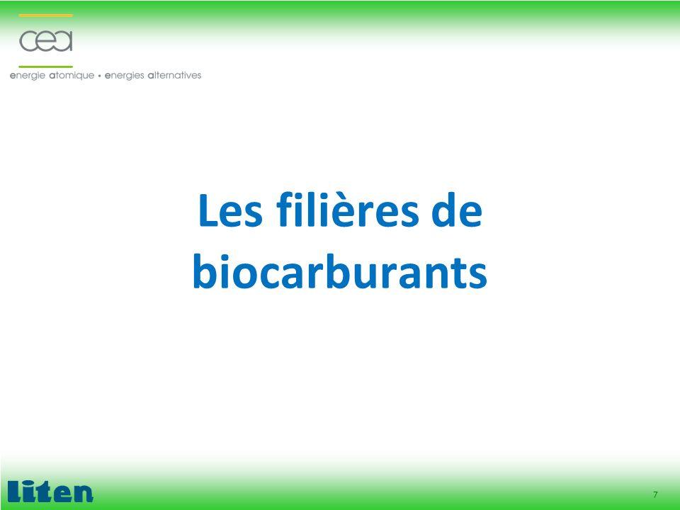 7 Les filières de biocarburants