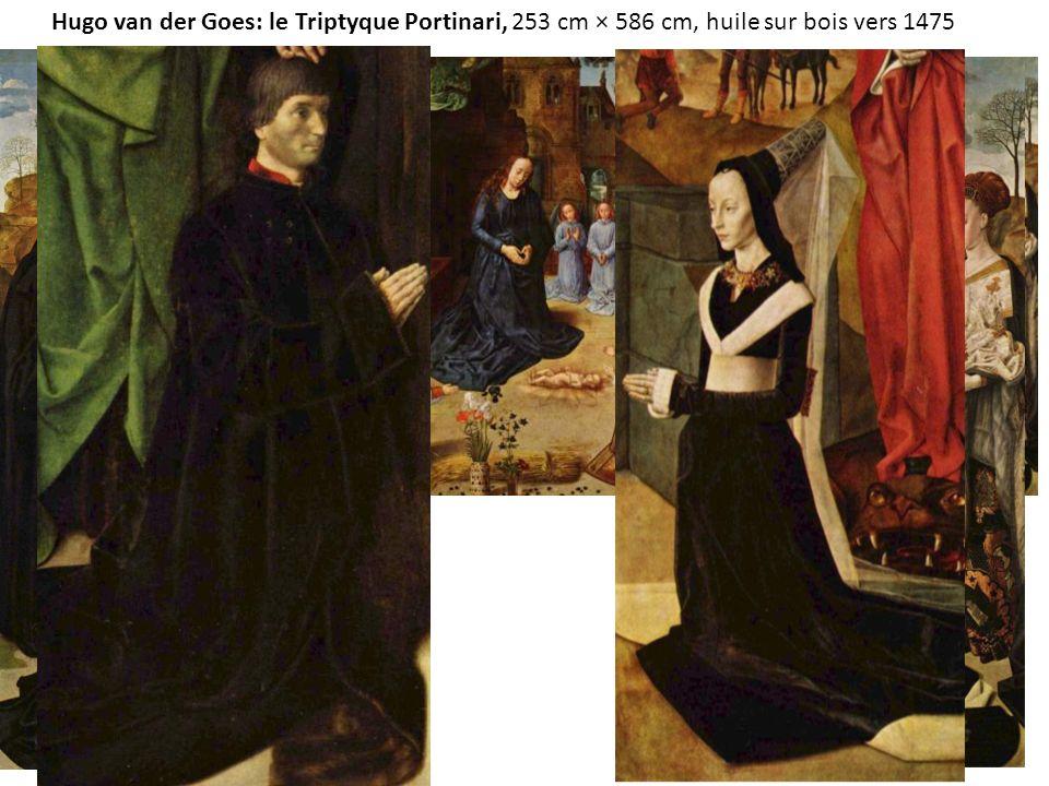 Hugo van der Goes: le Triptyque Portinari, 253 cm × 586 cm, huile sur bois vers 1475