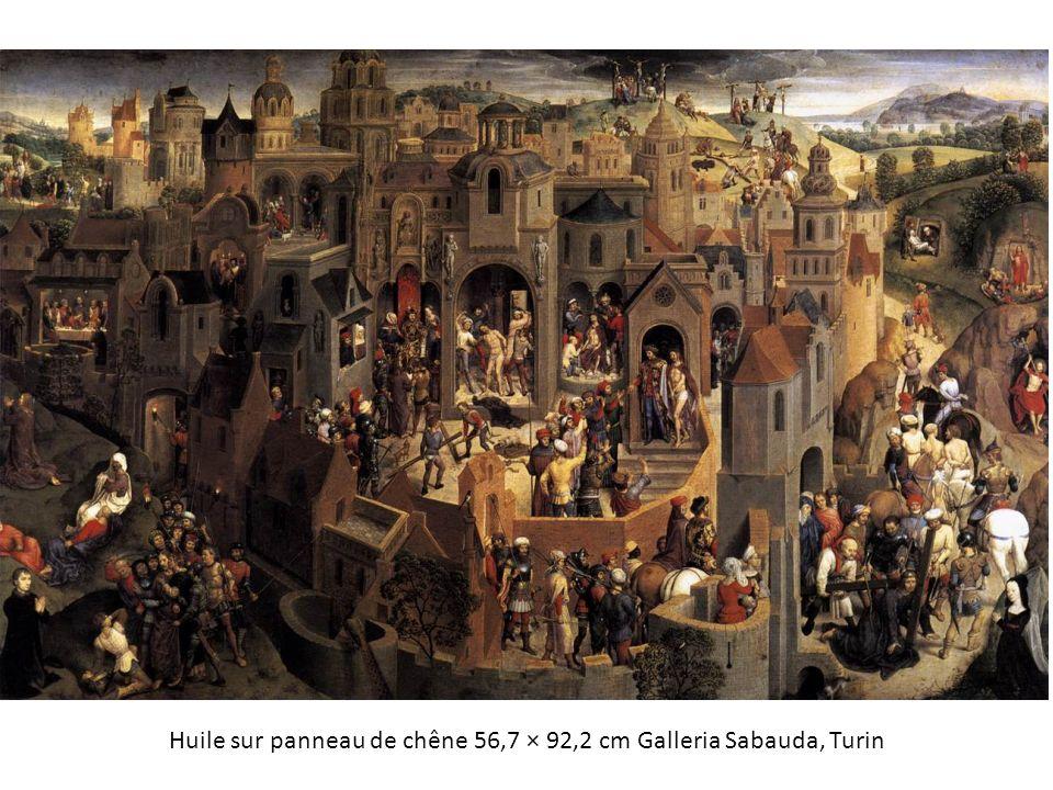 Huile sur panneau de chêne 56,7 × 92,2 cm Galleria Sabauda, Turin