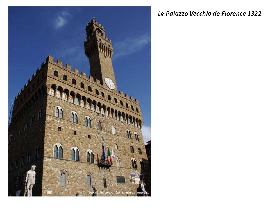 Le Palazzo Vecchio de Florence 1322