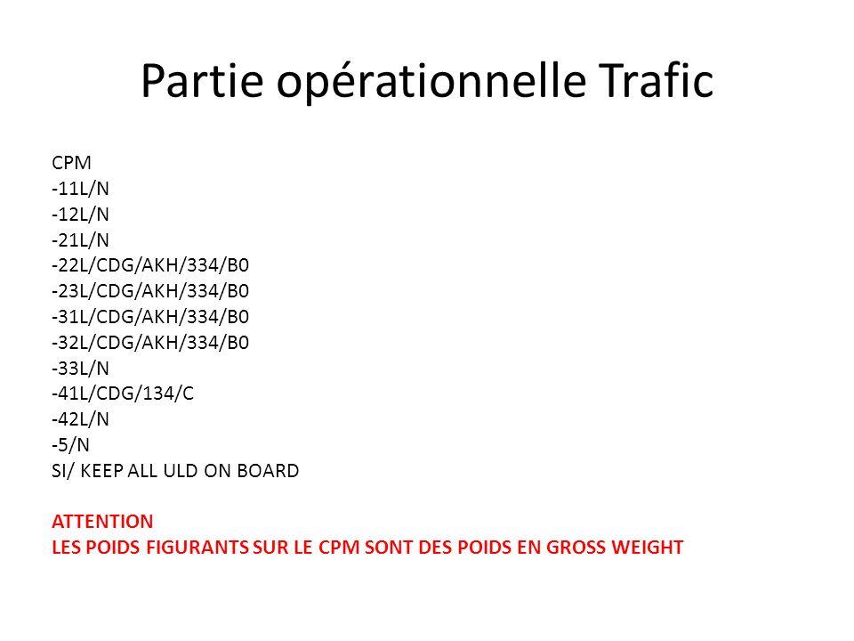 Partie opérationnelle Trafic CPM -11L/N -12L/N -21L/N -22L/CDG/AKH/334/B0 -23L/CDG/AKH/334/B0 -31L/CDG/AKH/334/B0 -32L/CDG/AKH/334/B0 -33L/N -41L/CDG/