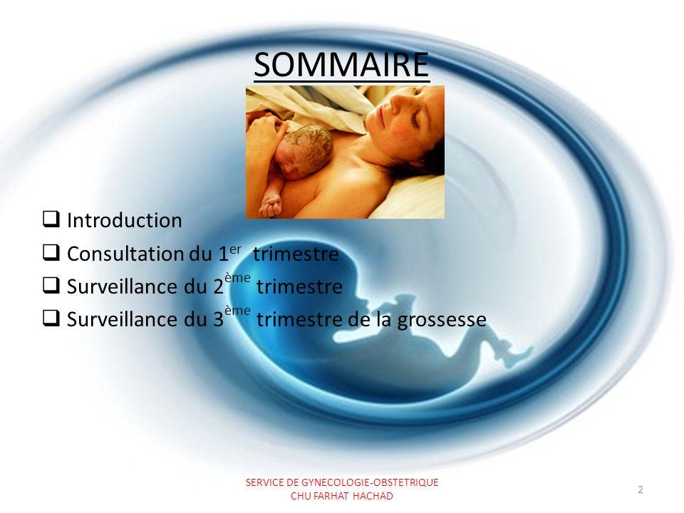 INTRODUCTION La surveillance prénatale de la grossesse normale sinscrit dans une démarche de dépistage et de prévention de complications maternelles ou fœtales.
