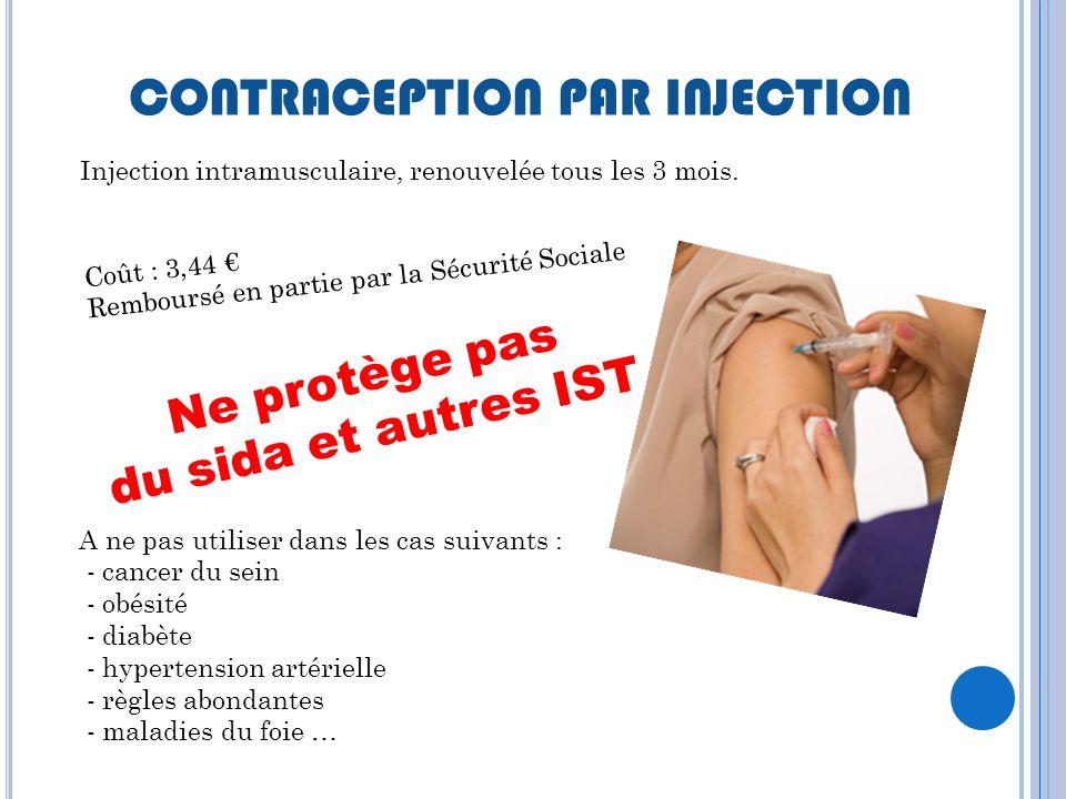 L ES PROGESTATIFS INJECTABLES Ne protège pas du sida et autres IST