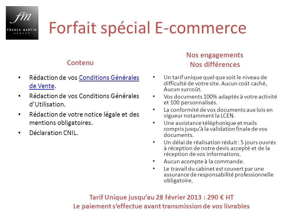Forfait spécial E-commerce Contenu Rédaction de vos Conditions Générales de Vente.Conditions Générales de Vente Rédaction de vos Conditions Générales dUtilisation.