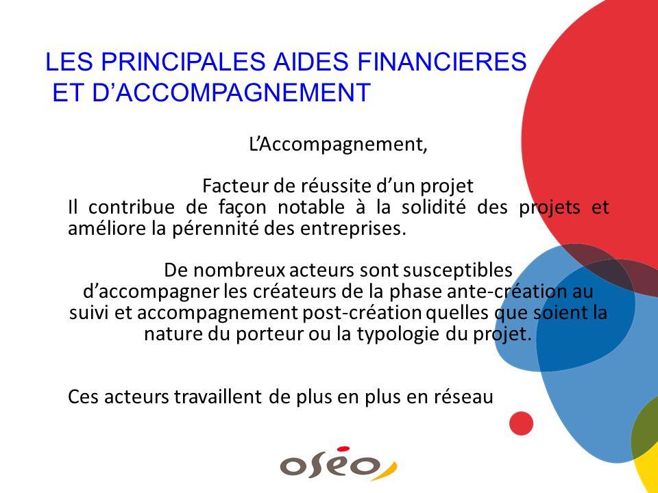 LAccompagnement, Facteur de réussite dun projet Il contribue de façon notable à la solidité des projets et améliore la pérennité des entreprises. De n