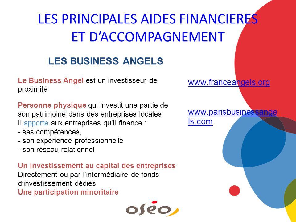 LES BUSINESS ANGELS Le Business Angel est un investisseur de proximité Personne physique qui investit une partie de son patrimoine dans des entreprise