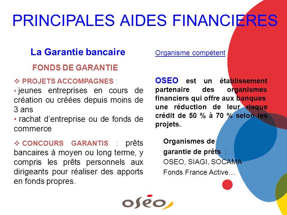 La Garantie bancaire Organisme compétent OSEO est un établissement partenaire des organismes financiers qui offre aux banques une réduction de leur ri