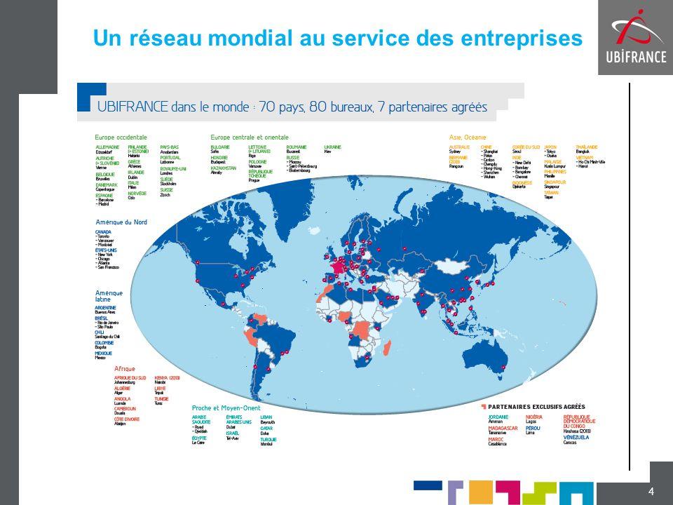 Un maillage régional à proximité des PME 5 UBIFRANCE a étendu son réseau en région pour être plus proche des entreprises et offrir des soutiens complémentaires.