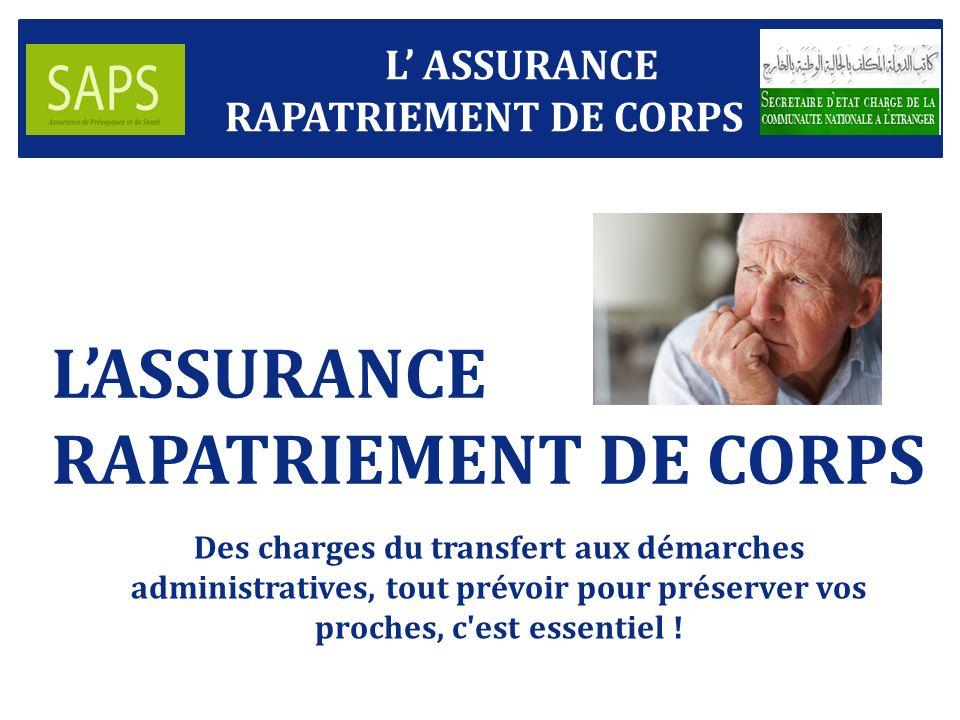 LASSURANCE RAPATRIEMENT DE CORPS Des charges du transfert aux démarches administratives, tout prévoir pour préserver vos proches, c est essentiel .