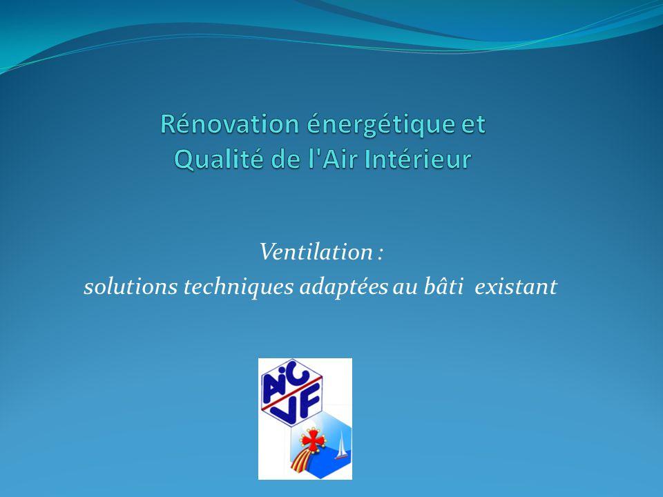 Ventilation : solutions techniques adaptées au bâti existant