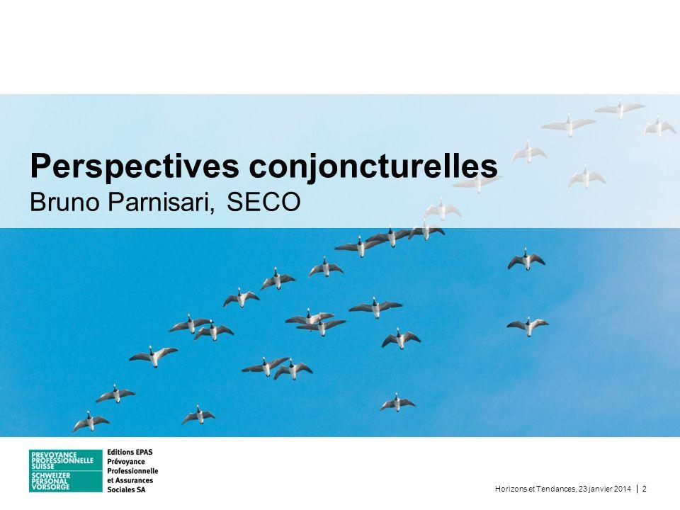 Bruno Parnisari, SECO Perspectives conjoncturelles Horizons et Tendances, 23 janvier 20142