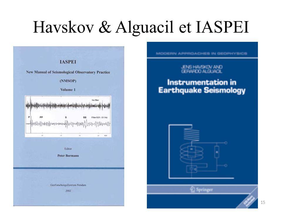 Havskov & Alguacil et IASPEI 15