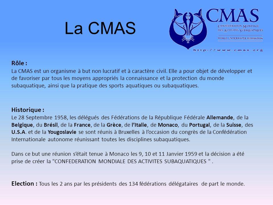 La CMAS Rôle : La CMAS est un organisme à but non lucratif et à caractère civil.