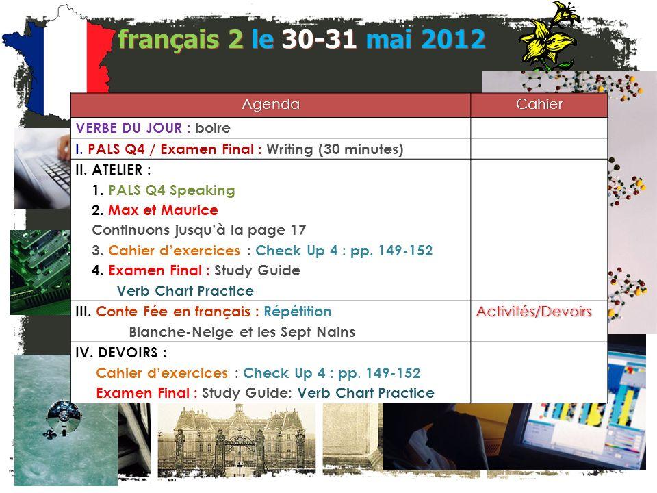 français 2 le 30-31 mai 2012