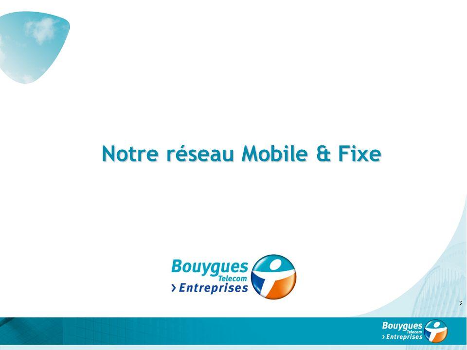 Notre réseau Mobile & Fixe 3