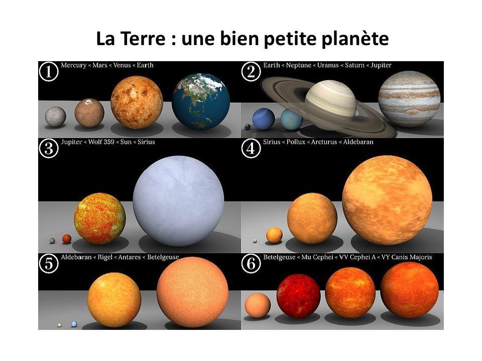 La Terre : une bien petite planète