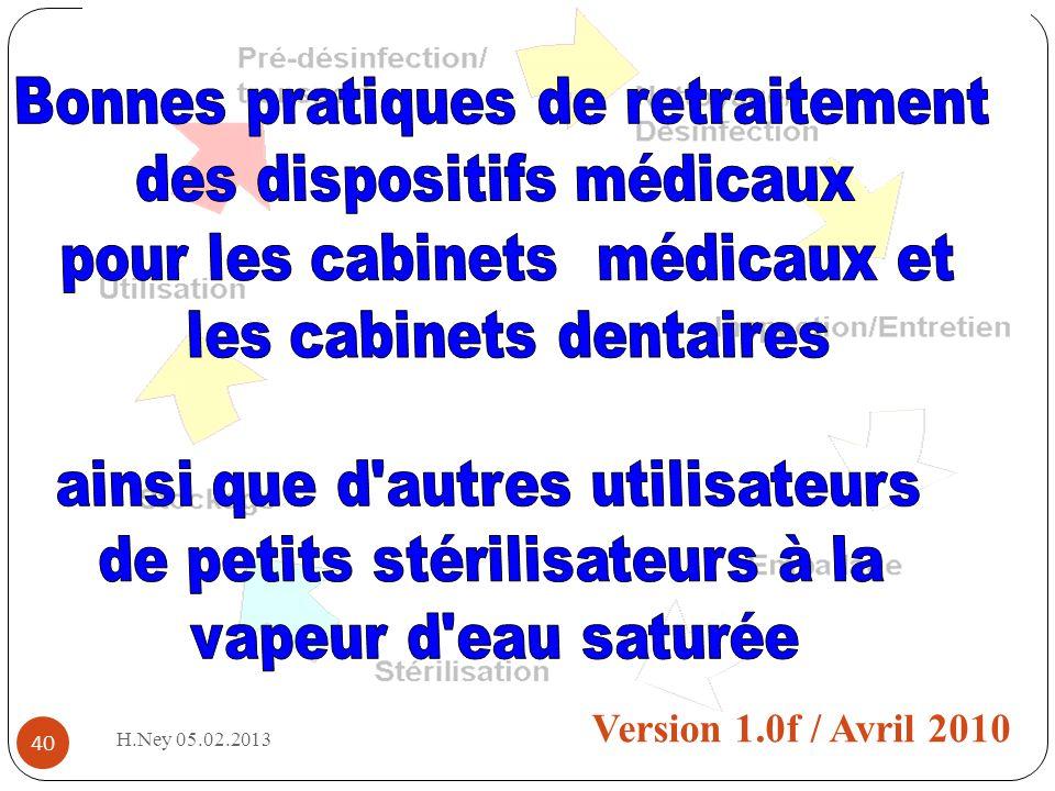 40 BPRPPS Version 1.0f / Avril 2010 H.Ney 05.02.2013