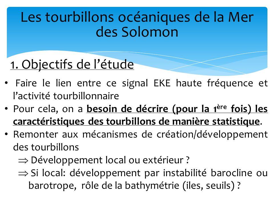 Les tourbillons océaniques de la Mer des Solomon Faire le lien entre ce signal EKE haute fréquence et lactivité tourbillonnaire Pour cela, on a besoin