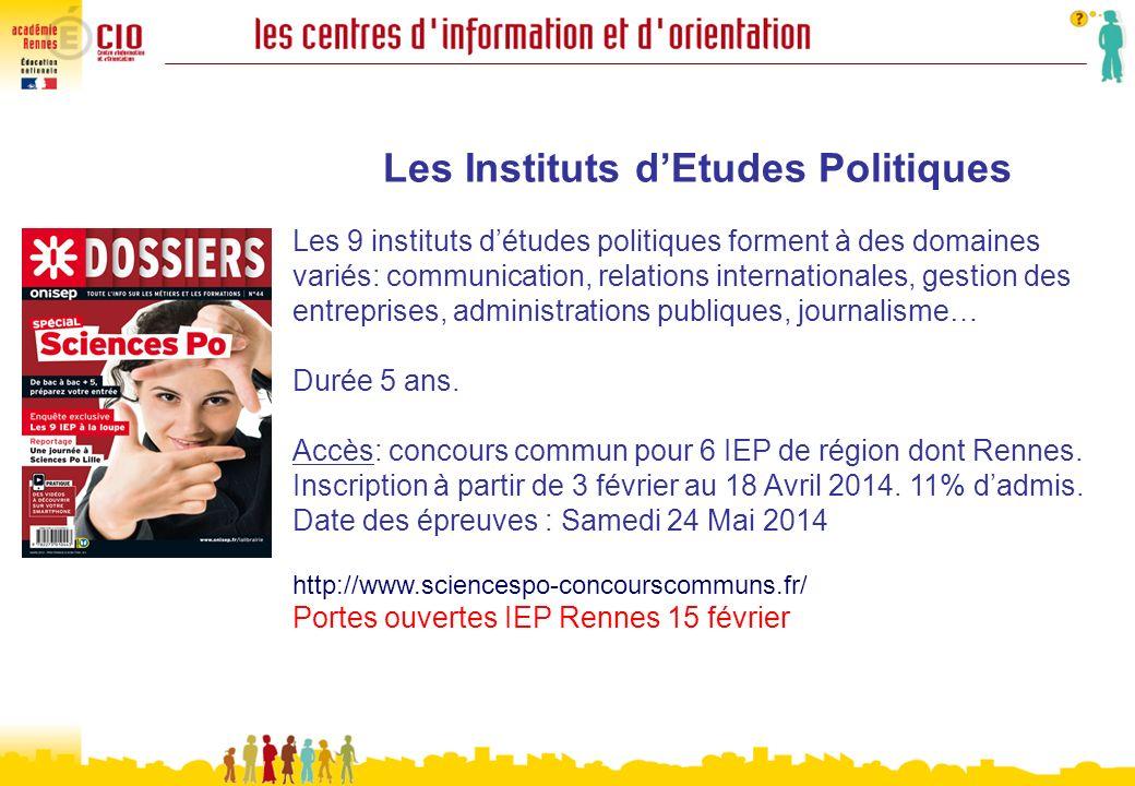 Les Instituts dEtudes Politiques Les 9 instituts détudes politiques forment à des domaines variés: communication, relations internationales, gestion d