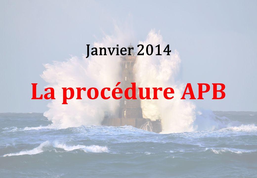 Janvier 2014 La procédure APB