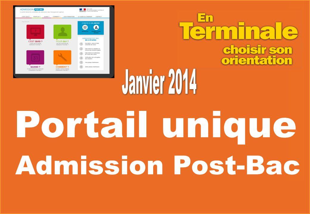 Admission Post-Bac Portail unique
