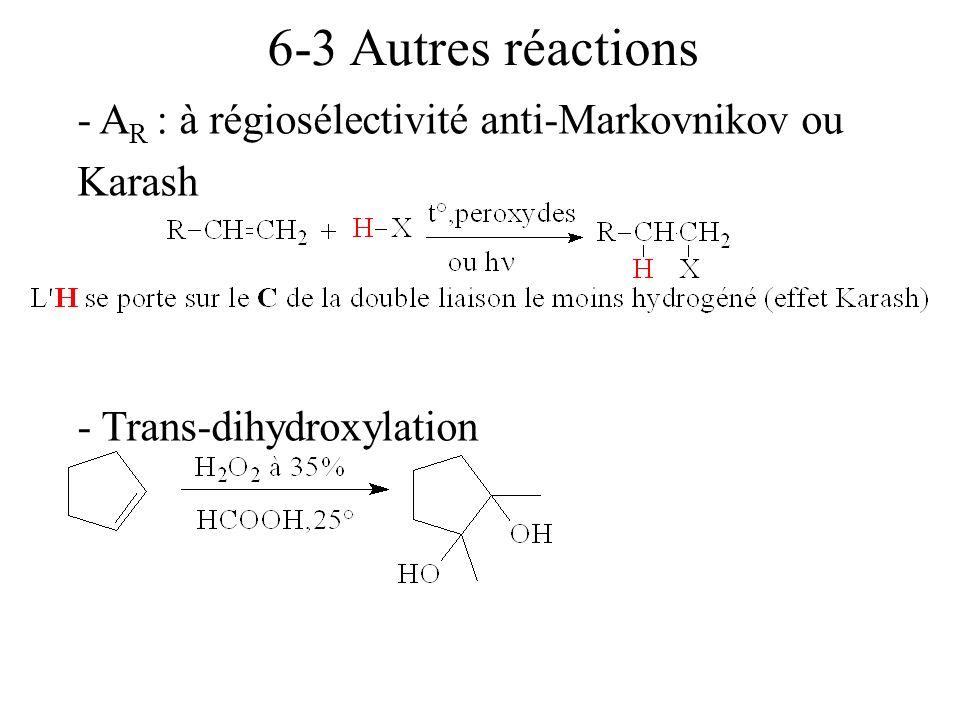 TD5 2- Indiquer par quelles réactions on peut passer (en une ou plusieurs étapes) : 1°) de CH 3 CHBrCH 2 Br à CH 3 CH 2 CH 3 2°) de CH 3 CH 2 CH 2 OH à CH 3 CHOHCH 2 OH 3°) de CH 3 CH=CH 2 à propyne 4°) de pent-1-yne à pent-2-yne Réponses