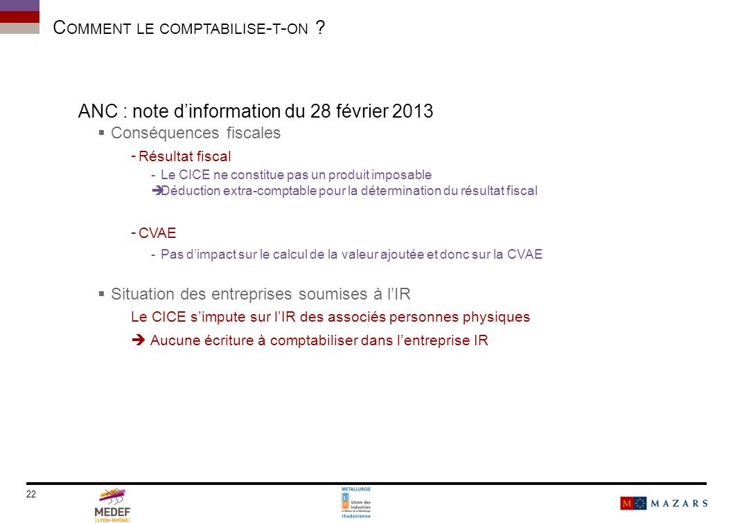 C OMMENT LE COMPTABILISE - T - ON .