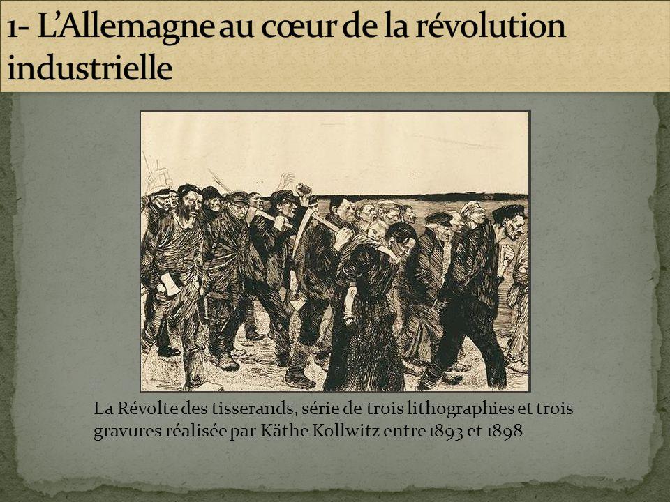 La Révolte des tisserands, série de trois lithographies et trois gravures réalisée par Käthe Kollwitz entre 1893 et 1898