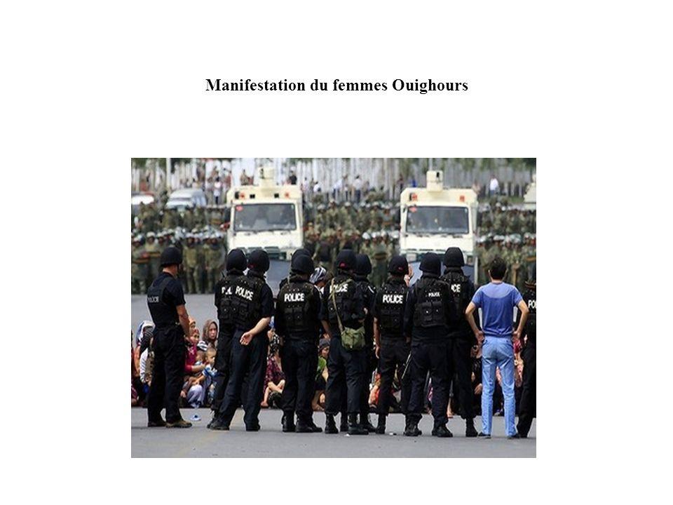 Manifestation du femmes Ouighours