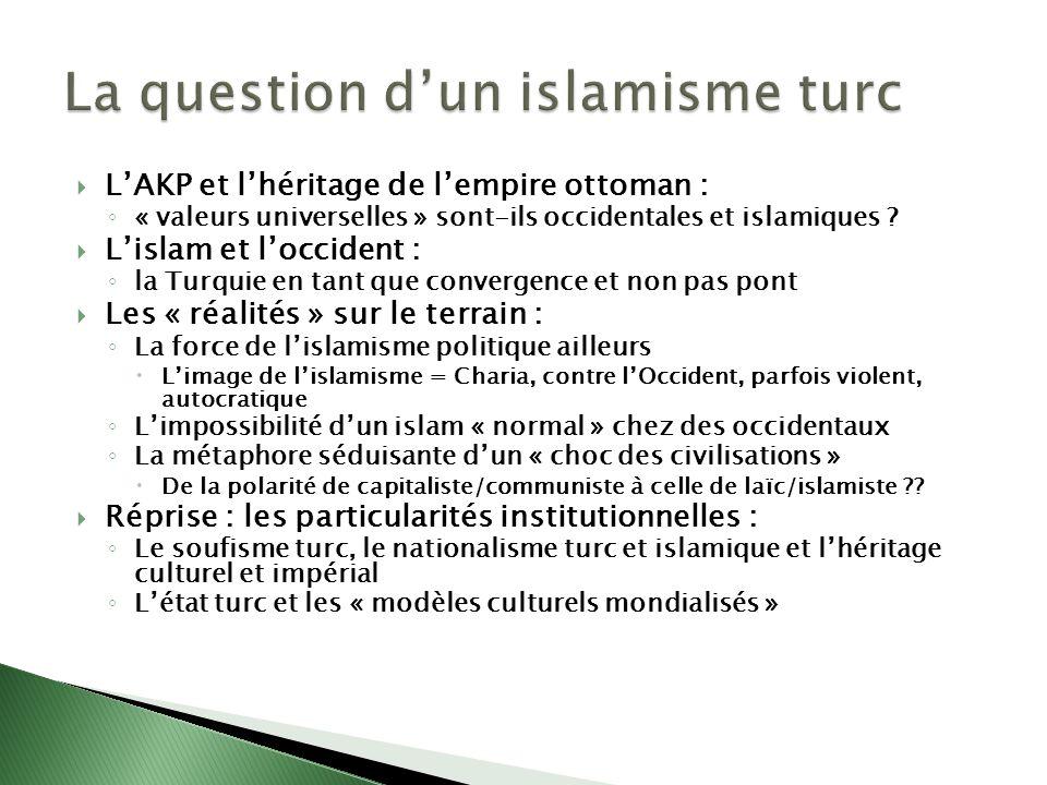 LAKP et lhéritage de lempire ottoman : « valeurs universelles » sont-ils occidentales et islamiques ? Lislam et loccident : la Turquie en tant que con