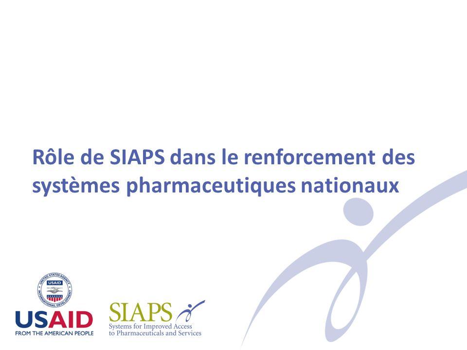 Rôle de SIAPS dans le renforcement des systèmes pharmaceutiques nationaux