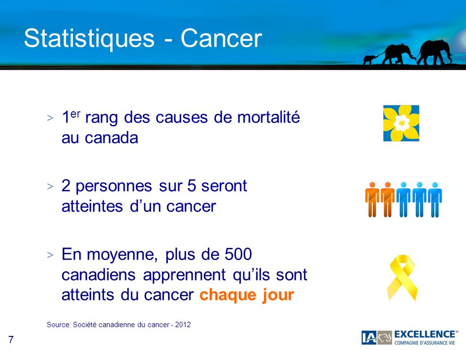 8 Statistiques - Accident > Causes des accidents Source: Statistiques Canada CausesProportion Accident de véhicules motorisés27 % Accident de sport27 % Accident au travail21 % Accident à la maison21 %