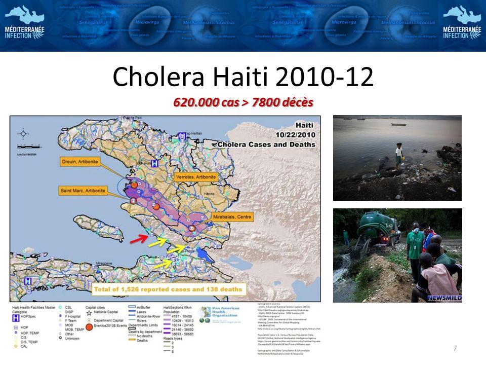 620.000 cas > 7800 décès Cholera Haiti 2010-12 620.000 cas > 7800 décès 7