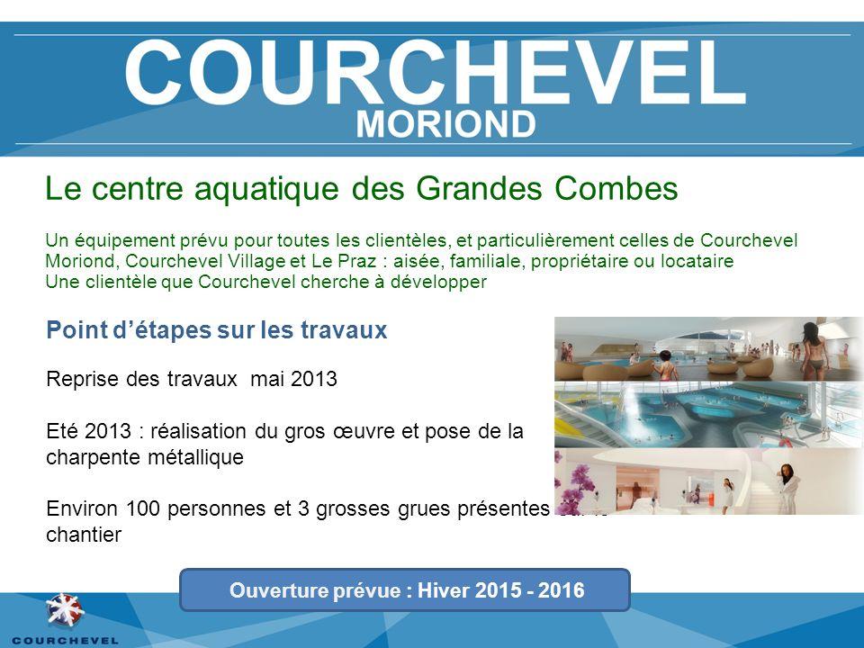 Le centre aquatique des Grandes Combes Reprise des travaux mai 2013 Eté 2013 : réalisation du gros œuvre et pose de la charpente métallique Environ 10