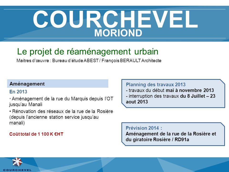 Le projet de réaménagement urbain Maitres dœuvre : Bureau détude ABEST / François BERAULT Architecte En 2013 Aménagement de la rue du Marquis depuis l