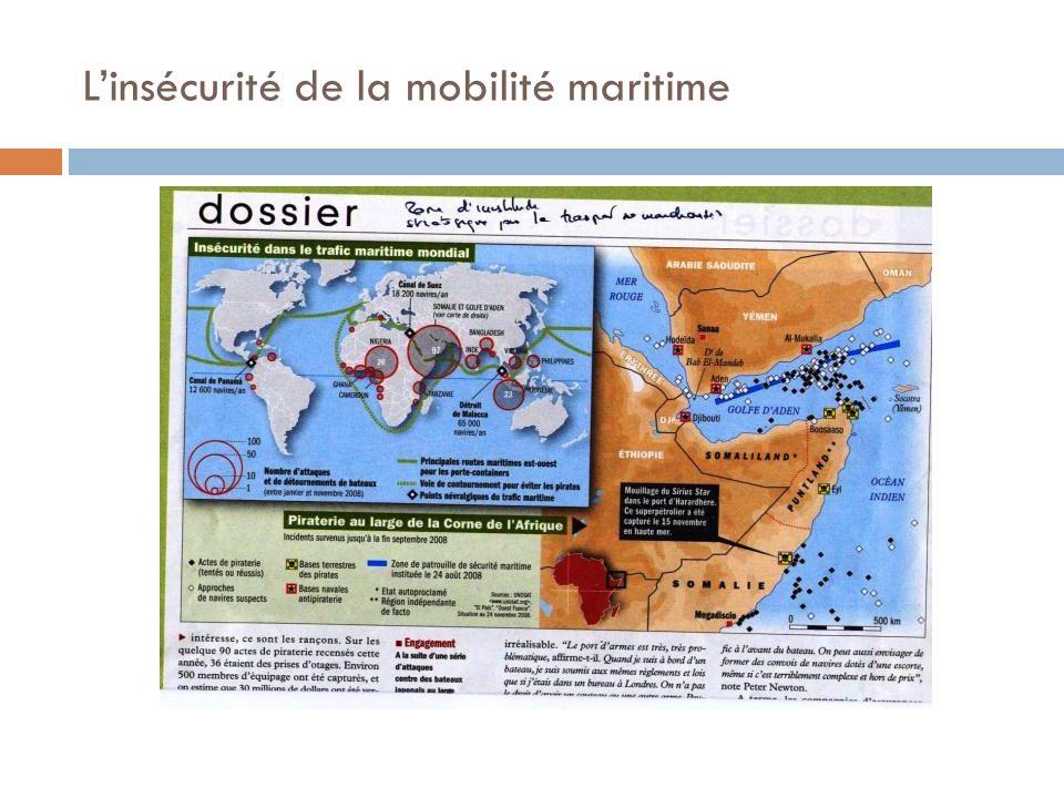 Linsécurité de la mobilité maritime