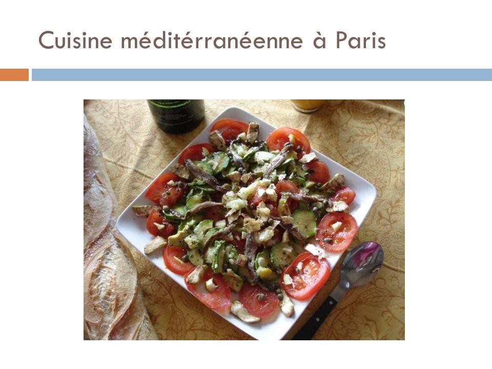 Cuisine méditérranéenne à Paris