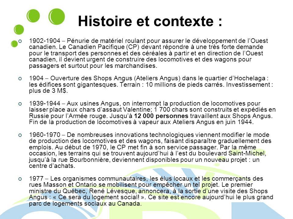Histoire et contexte : 1902-1904 – Pénurie de matériel roulant pour assurer le développement de lOuest canadien.