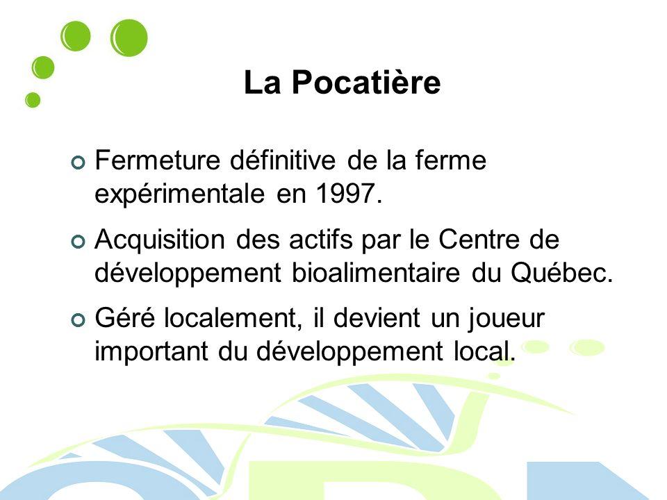 La Pocatière Fermeture définitive de la ferme expérimentale en 1997.
