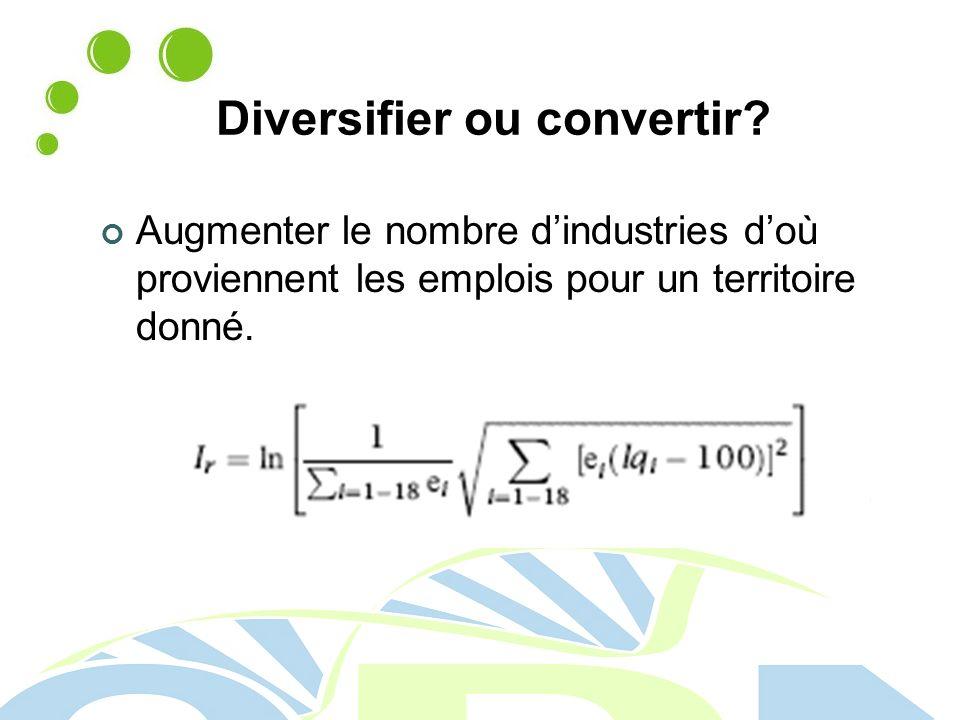 Diversifier ou convertir.