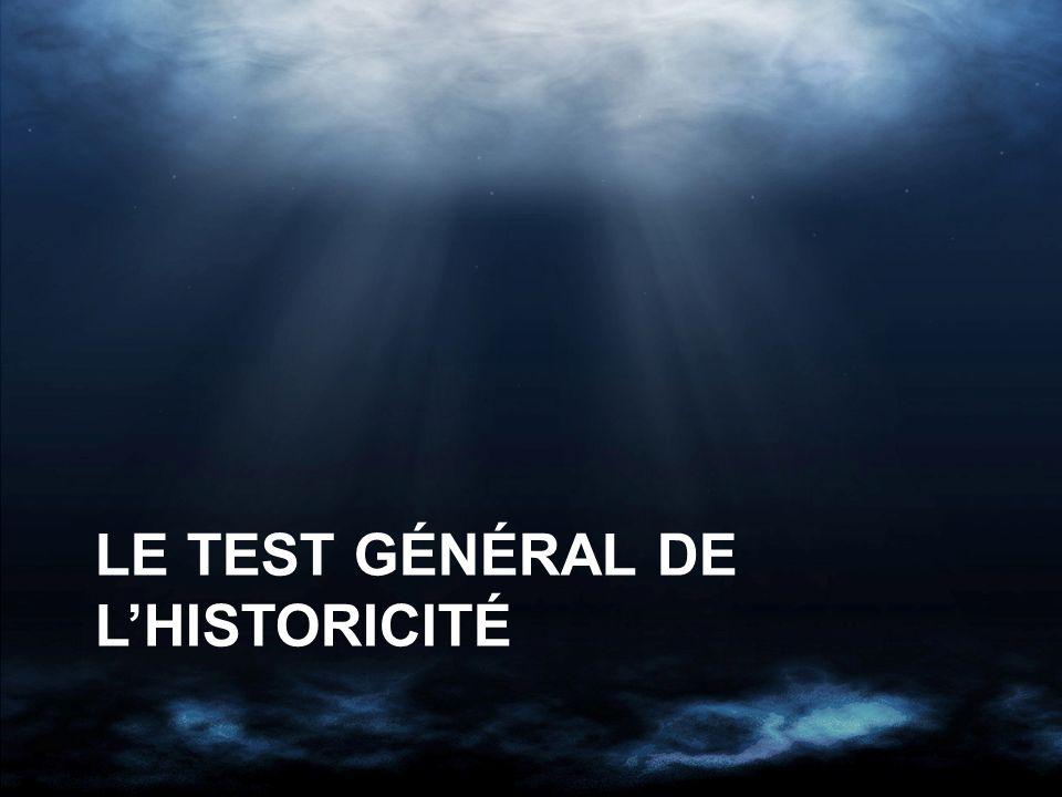 LE TEST GÉNÉRAL DE LHISTORICITÉ