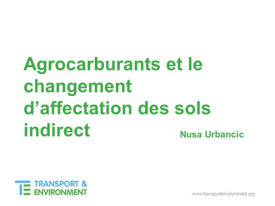 www.transportenvironment.org Nusa Urbancic Agrocarburants et le changement daffectation des sols indirect