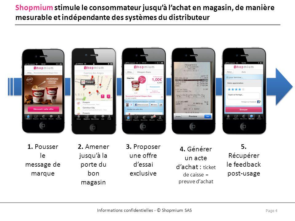 Page 5 Informations confidentielles - © Shopmium SAS Plus de 250 campagnes réalisées pour les annonceurs de premier plan
