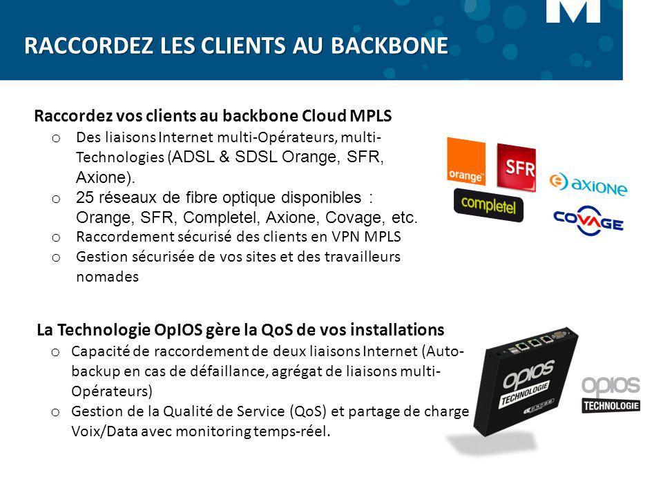 o Des liaisons Internet multi-Opérateurs, multi- Technologies ( ADSL & SDSL Orange, SFR, Axione). o 25 réseaux de fibre optique disponibles : Orange,
