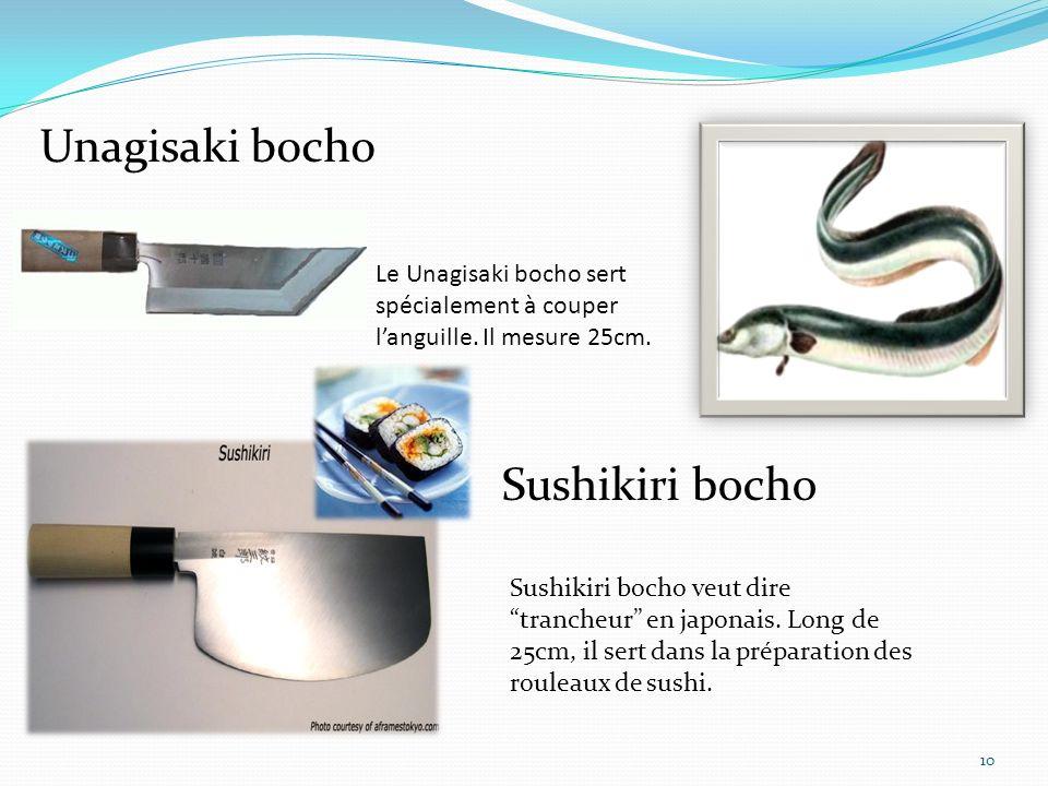 Fuguhiki 11 Le Fuguhiki bocho sert à couper de très fines tranches de poissons.